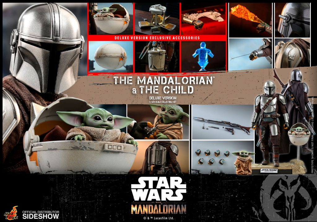 Deluxe Set of The Mandalorian and The Child